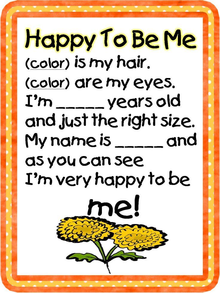 Happy to be me poem