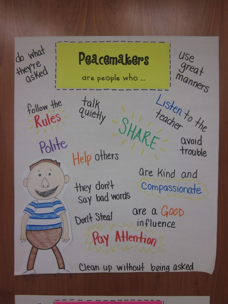 Part of Peacemakers/Peacebreakers - introduce after reading No David! and David Goes to School