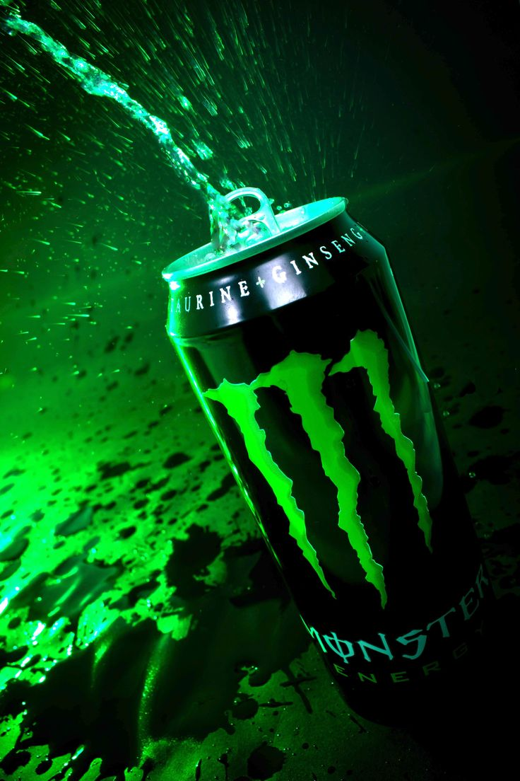 """Explosion"" - Image meant to visually express the explosion of taste and the power of the boost that Monster Energy drink advertises."