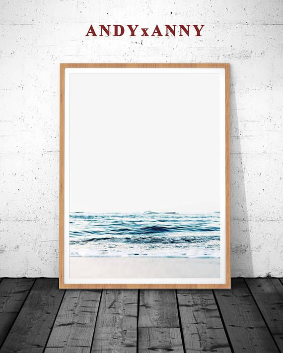 Coastal prints beach print ocean water waves photography modern minimalist large poster ocean wave printable large poster ocean poster