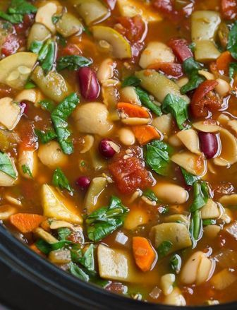 Olive Garden Copycat Minestrone Soup Slow Cooker Recipe Gardens Soups And Olives