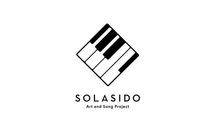 アート(絵)と音楽(歌)を融合させたプロジェクト(ユニット)のロゴ デザインを制作。ユニットであるそれぞれの名前から二文字を取り「ソラシド」とネーミングを考案。ユニット名である音符=ピアノの鍵盤部分をトリミング、正方形(額)に歌を閉じ込める様なコンセプトで制作。