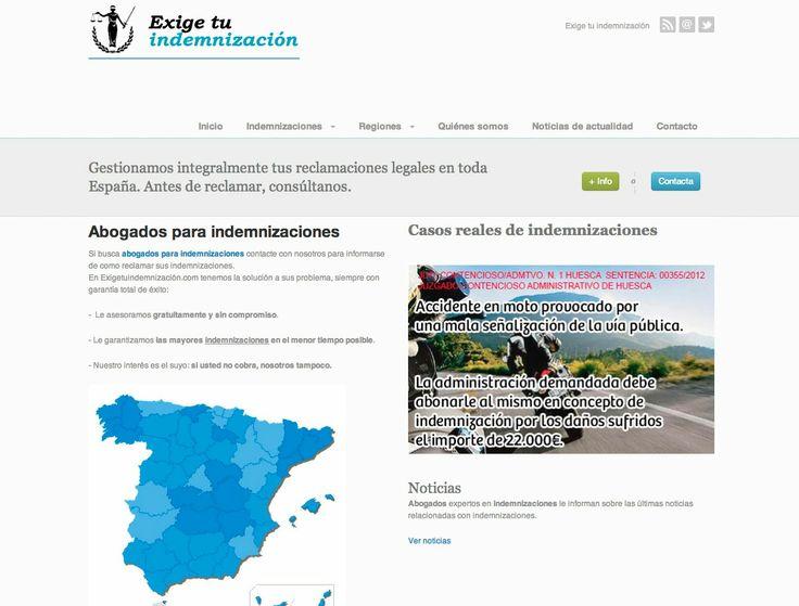 Exige tu indemnización - Despachos de abogados: exigetuindemnizacion.com #web #abogados