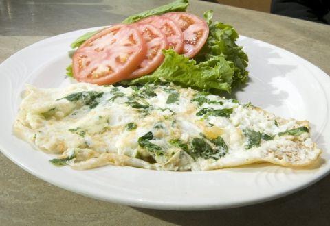 Omelet med spinat og tomat - 5:2 Kuren