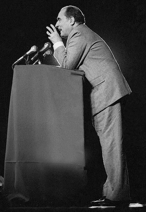 François Mitterrand, le 7 mai 1981. © Franck Pédersol
