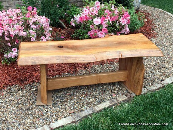 Natural Wood Diy Garden Bench Tutorial
