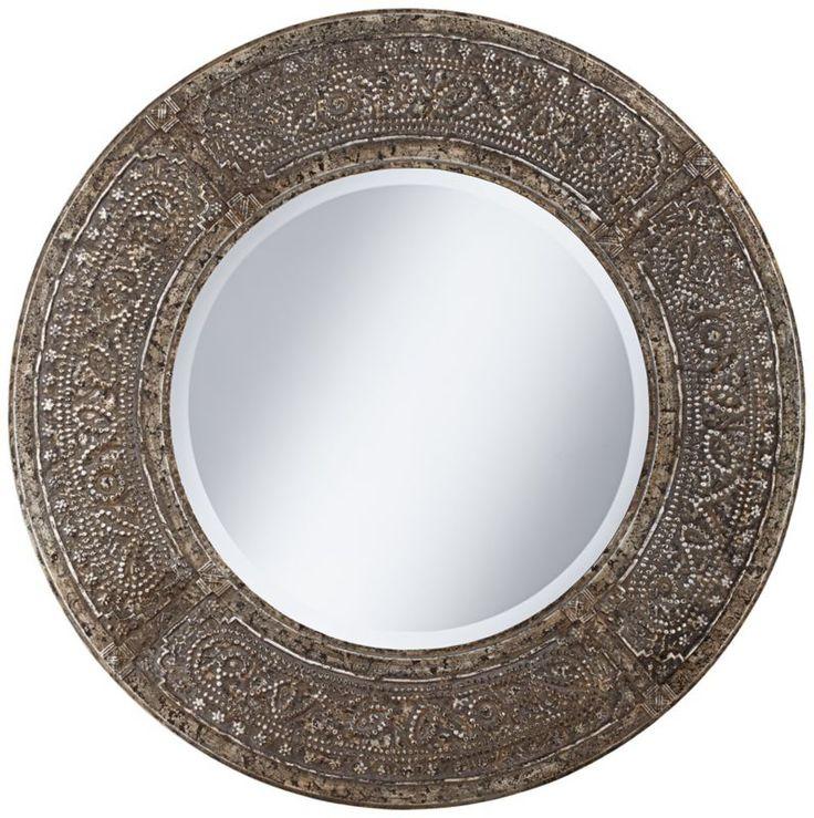 Charming 34 Inch Round Mirror Part - 8: 199Uttermost Harvest Serenity Gold 34-Inch Round Wall Mirror -