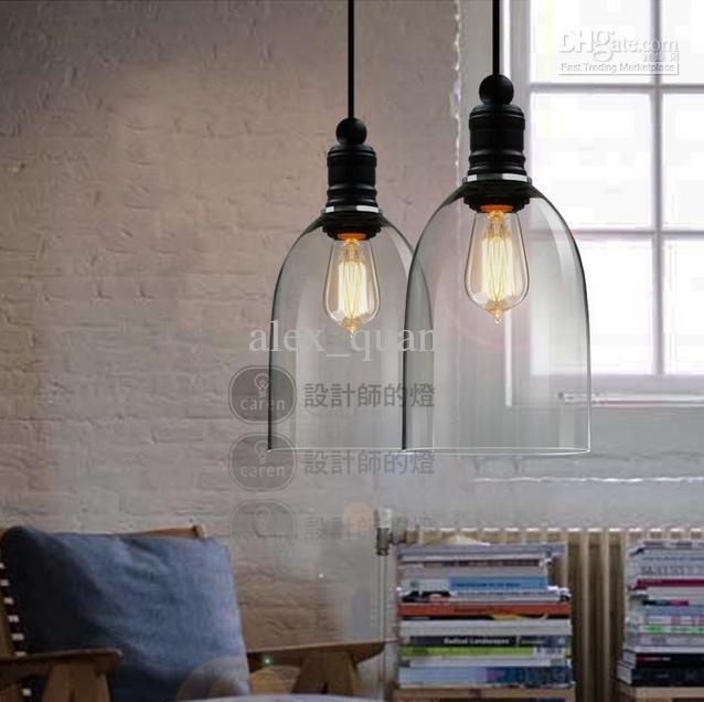 retro industrial diy ceiling lamp light glass pendant lighting home decor fixtures free edison bulb e27 110v 240v - Dining Room Light Fixtures Modern