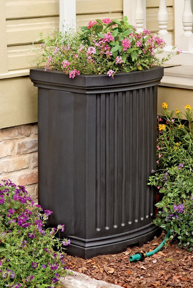 Decorative Rain Barrels with Planter | Gardener's Supply