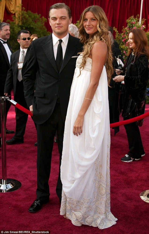 Famous ex: Leo and Gisele Bundchen - who is now married to NFL quarterback Tom Brady - dat...