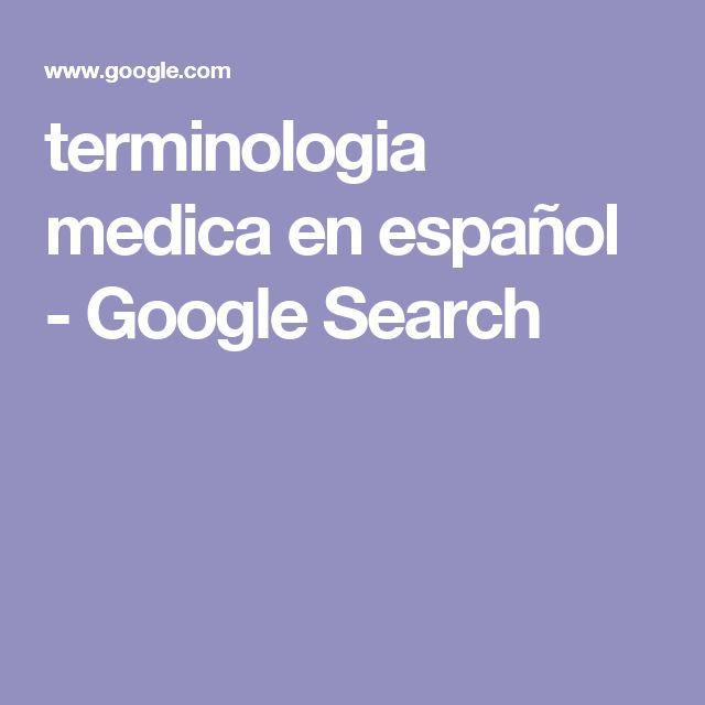 terminologia medica en español - Google Search
