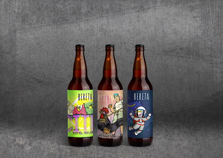 Label designs for a small craft-brewery from Timisoara, Romania called BeretaTM. They come from a city where a revolution started total down the communist party and now these four guys from Bereta want to start a revolution in the brewing industry by crea…