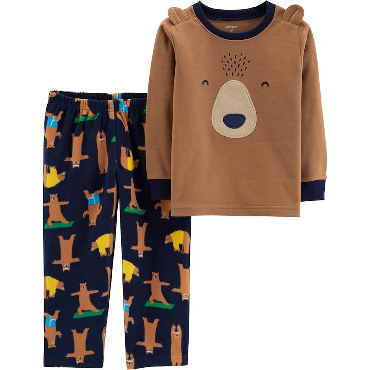 Paddington Boys Toddler Size 4T Bear One Piece Pajama Outfit Blue And Brown NWT