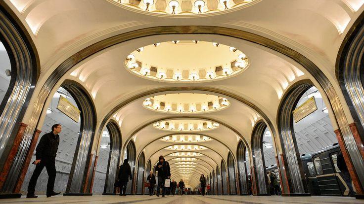 Estación de metro, Moscú, Rusia
