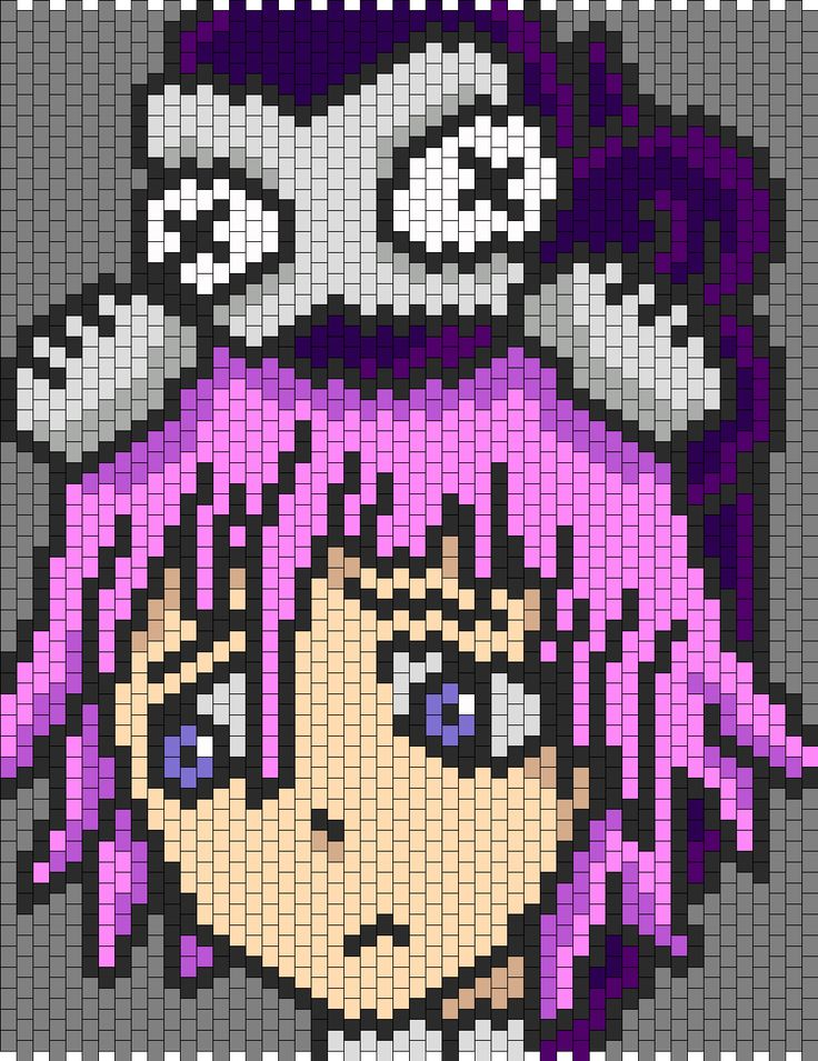 Crona And Ragnarok From Soul Eater bead pattern