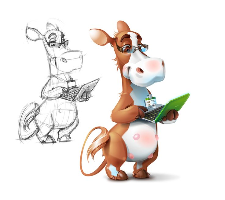 Cow with a Notebook #animal #character ★ Find more at http://www.pinterest.com/competing/