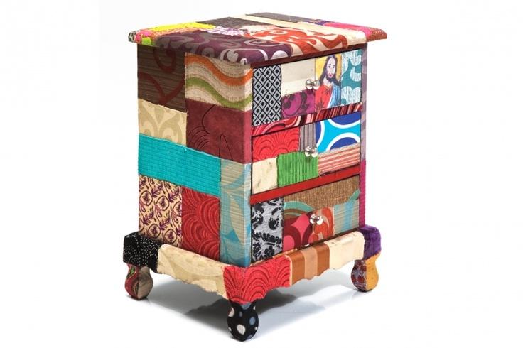 Table de chevet patchwork Paradise ou comment conjuguer praticité et déco design