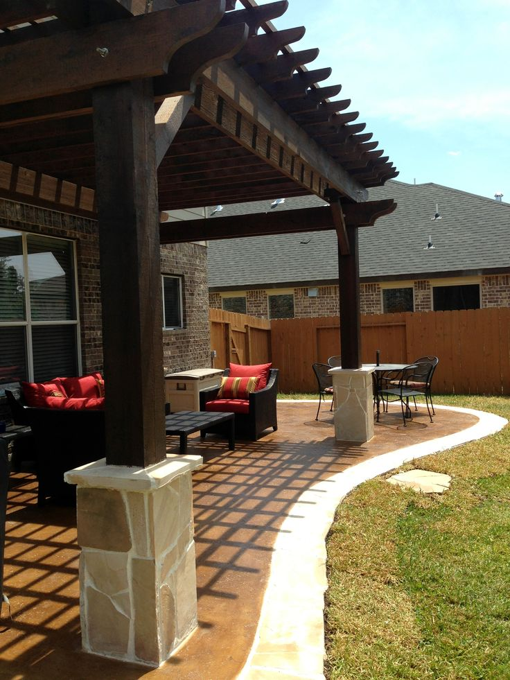 Dark Stained Wood Pergola