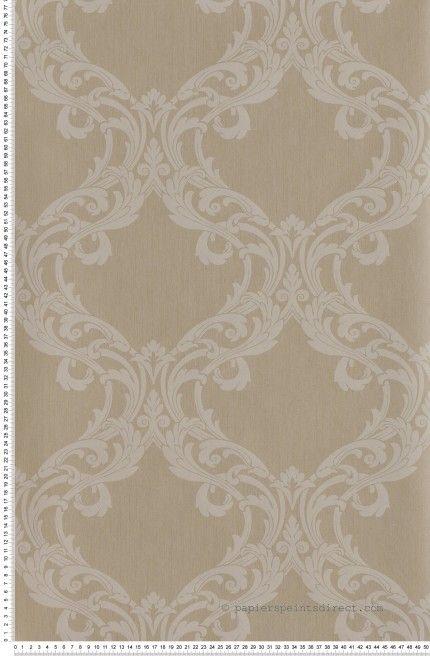 ornemental gr ge et marron clair papier peint tiffanie. Black Bedroom Furniture Sets. Home Design Ideas