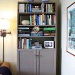 Mod Podge fabric bookshelf