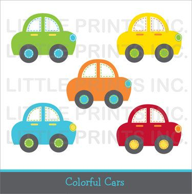Transportation Car Clip Art INSTANT by LittlePrintsParties on Etsy, $5.00