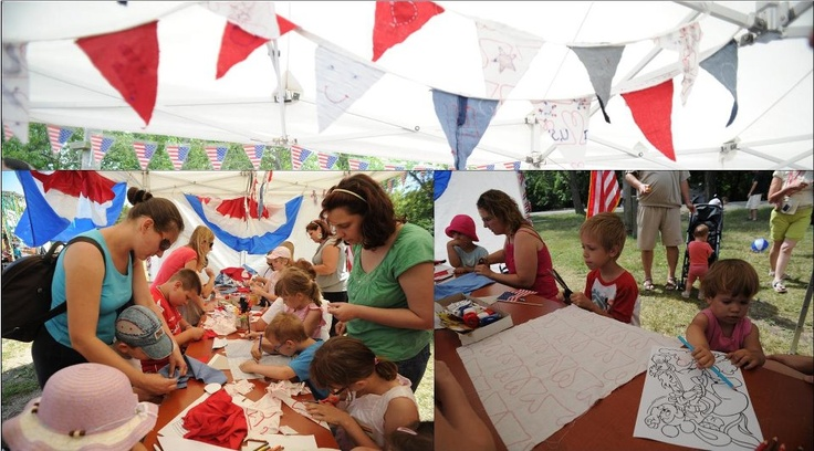 Bunting making for July 4 (2012)
