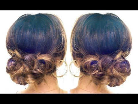 hair styles with bow best 25 curly bun hairstyles ideas only on 6052