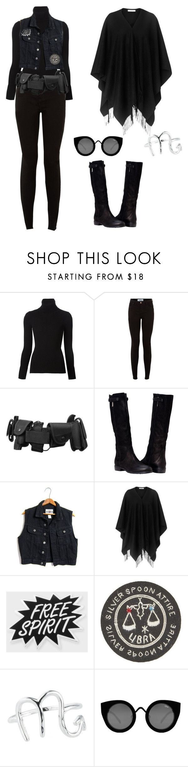"""""""Strega Fashion #5"""" by theeverydaygoth ❤ liked on Polyvore featuring Emanuel Ungaro, New Look, L.K.Bennett, Paul Smith, Silver Spoon Attire, Rock 'N Rose and Quay"""
