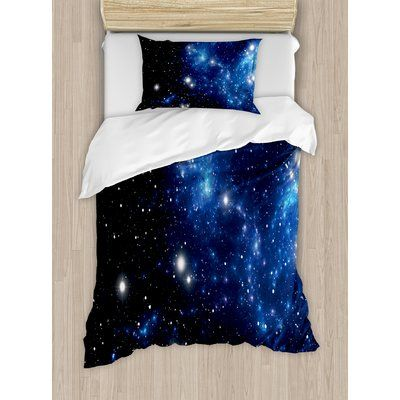 Ambesonne Constellation Outer Space Star Nebula Astral Cluster Astronomy Theme Galaxy Mystery Duvet Set Size: