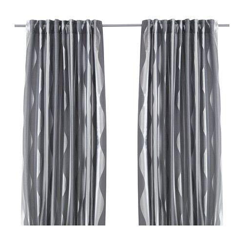 MURRUTA カーテン1組 IKEA 光を取り入れながら、強い日差しをやわらげます カーテンロッドまたはカーテントラックに取り付けてお使いください ギャザリングテープ付き。RIKTIG/リクティーグカーテンフックを使えば、簡単にギャザーが寄せられます