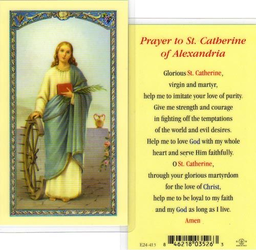 Saint Catherine of Alexandria Holy Cards (E24-415)