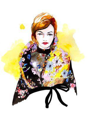 Preen by Thornton Fall 2017 Fashion Illustration by Stephanie Anne www.stephanieanne.ca