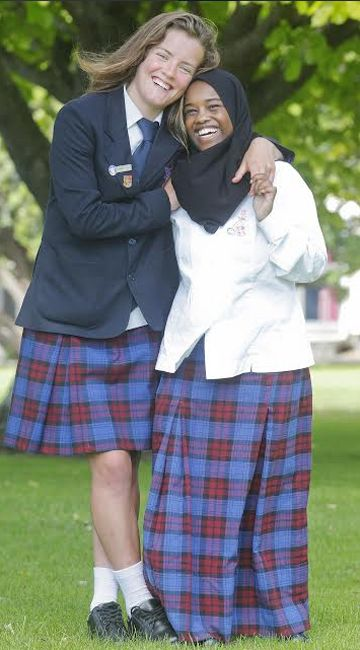 Schools' cultural clothing Somali-born Muslim at home in hijab By JO MOIR ...  Photo KEVIN STENT/Fairfax NZ DIFFERENT STROKES: Naenae College head girl, Emma Cropp, 17, wears the school's standard uniform while her Somali-born friend Hawo Ali, 17, wears a longer skirt and hijab, in keeping with her Muslim beliefs.