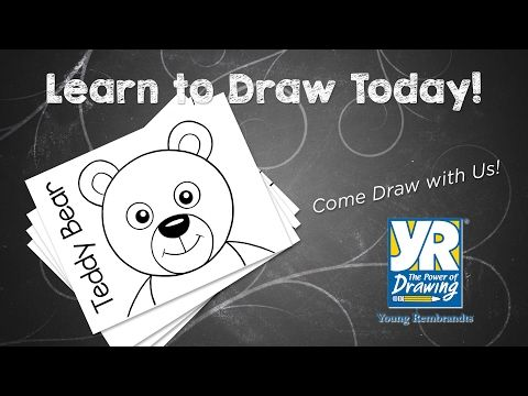 how to draw a teddy bear easily
