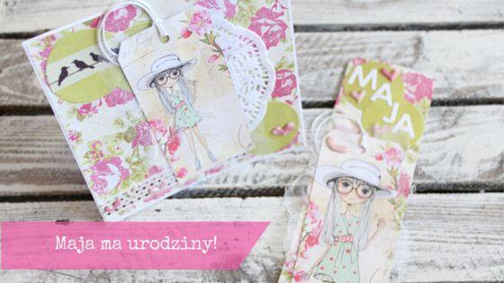 upominek dla małej dziewczynki, gift for girl, bookmark, card