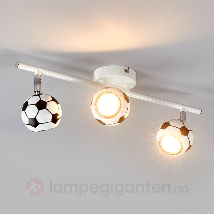 3 lys Fotball-taklampe Play med LED-lys 8574201