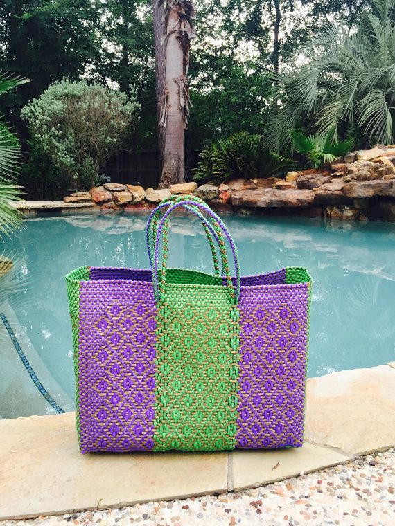 186 best Mexican Bags, Oaxaca bags,hand woven plastic tote bag ...
