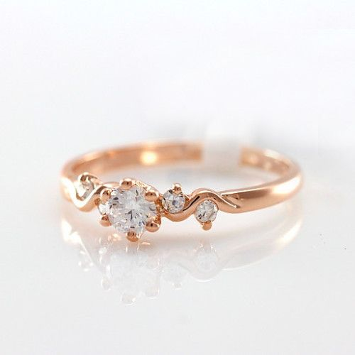 Attractive Alloy Zircon Rhinestone Women's Rings