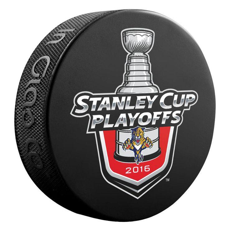 2016 NHL Florida Panthers Stanley Cup Playoffs Logo Commemorative Hockey Puck #SherWoodInGlasCo #FloridaPanthers