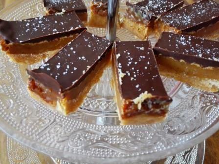 Plaatgebak met karamel en chocola :: Caatjes Kitchen