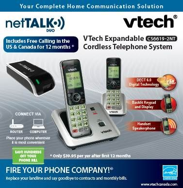Get Free Long-Distance Calling and Premium Phone Features with the netTALK DUO WiFi-Giveaway