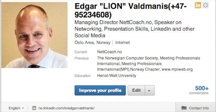 LinkedIn-tips: Skriv navnet ditt riktig #LinkedIntips #Jobbportalen #karriere