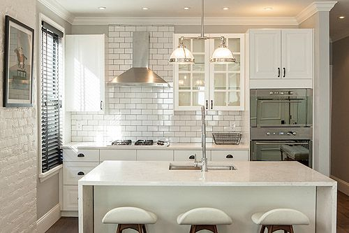 Small, classic white kitchen