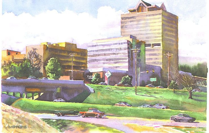 St. Dominic Hospital by Wyatt Waters