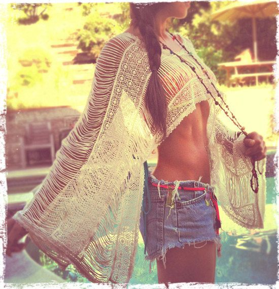 holy moly: Outfits, Style, Crop Tops, Shirts, Weights Loss Secret, Boho, Weightloss, Crochet Tops, Summer Clothing