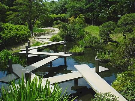 The traditional Japanese garden and it's elements.