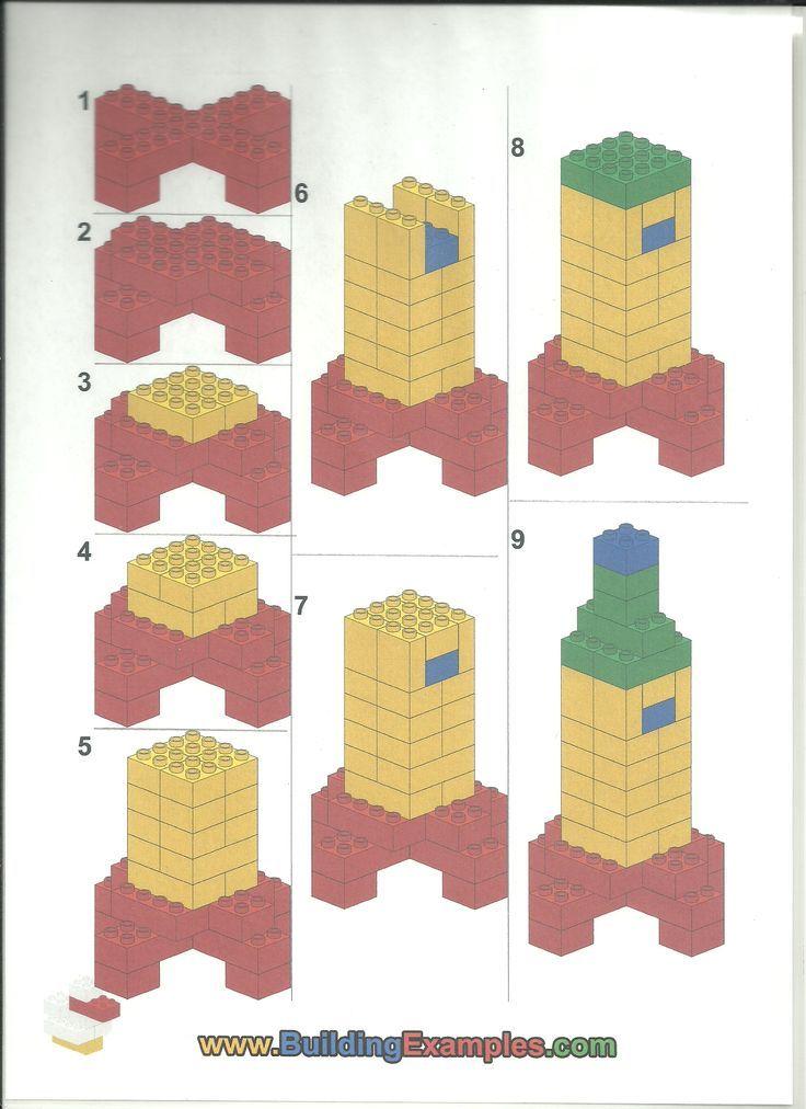 Bouwplan; raket maken, lego:
