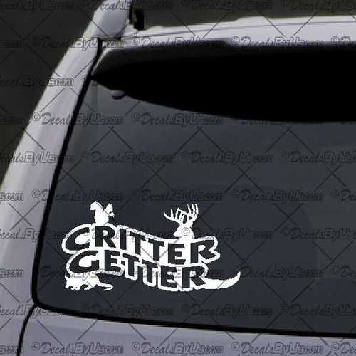Critter Getter Decal – Decal - Car Window Decal - Sticker – White