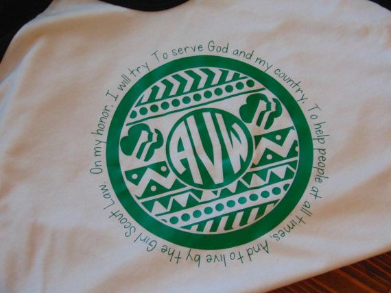 Monogrammed Girl Scout Shirt by SimplySouthernMarket on Etsy
