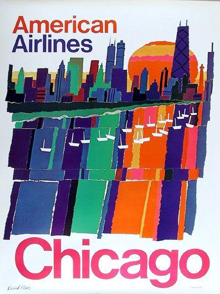 chicago: Design Inspiration, Vintage Airlines, Travel Tips, Airlines Vintage, Travel Guide, Vintage Travel Posters, American Airlines, Airlines Travel, Vintage Image